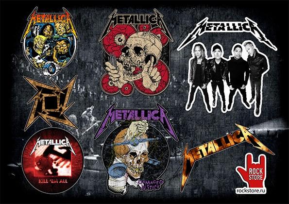Стикерпак (Набор наклеек) Metallica#2 - фото 269955
