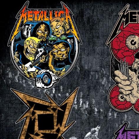 Стикерпак (Набор наклеек) Metallica#2 - фото 269956
