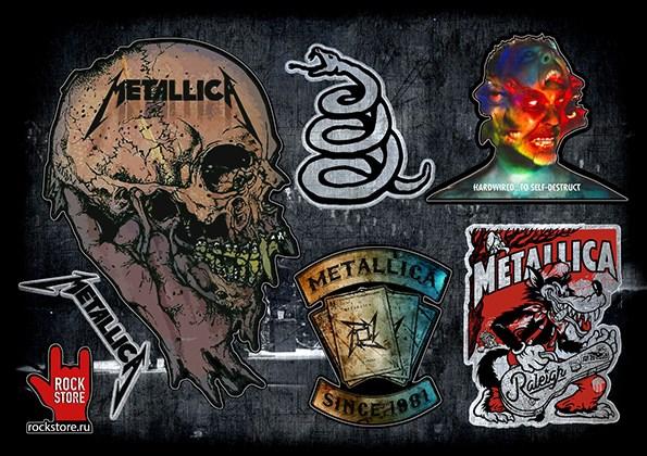 Стикерпак (Набор наклеек) Metallica#3 - фото 269961