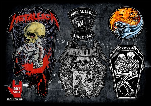 Стикерпак (Набор наклеек) Metallica#1 - фото 269966