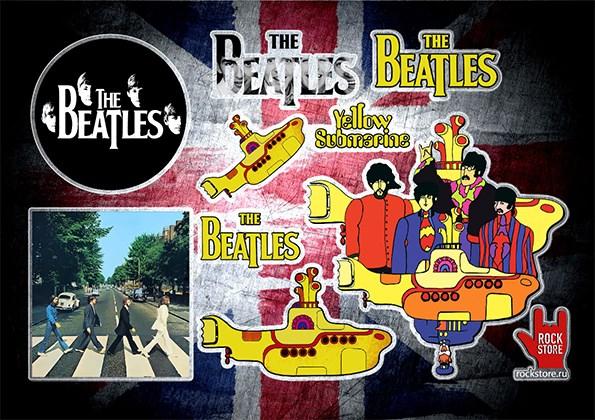 Стикерпак (Набор наклеек) Beatles#1 - фото 270018