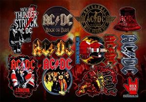 Стикерпак (Набор наклеек) ACDC#2